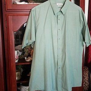 Van Heusen green summer shirt